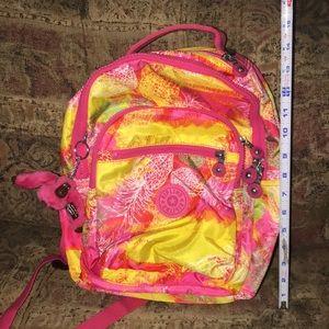 Kipling pineapple backpack (small)